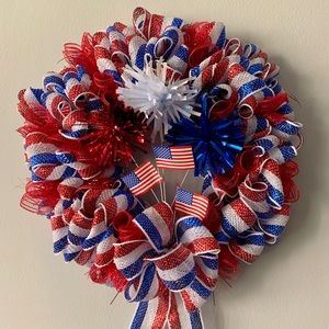Handmade Patriotic Wreath